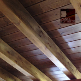 Ofertas panel de madera para cubierta friso abeto teñido.