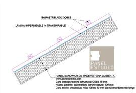 Detalle de enrastrelado doble y lámina impermeable www.panelestudio.com v4 arq .dwg