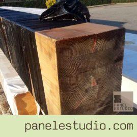Vigas de madera maciza, laminada y contralaminada. www.panelestudio.com