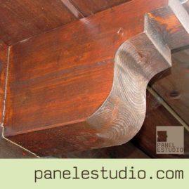 Vigas de madera y estructuras de madera. www.panelestudio.com