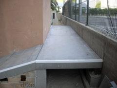 Panel de madera BICAPA para forjado perdido. Escalera y accesos a vivienda.