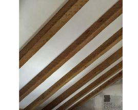 Acabado de panel de cubierta en cara vista cartón yeso knauf. Colocado, rematado y pintado por Gurpel Construcciones.