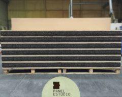 Panel de abeto para bioconstrucción con núcleo de corcho natural sin compuestos químicos de 100 mm.