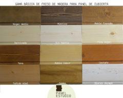 Colores friso de madera para panel de cubierta. Gama básica decorativa.