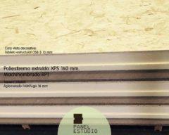 OSB 3 panel con aislamiento térmico XPS 160 mm.