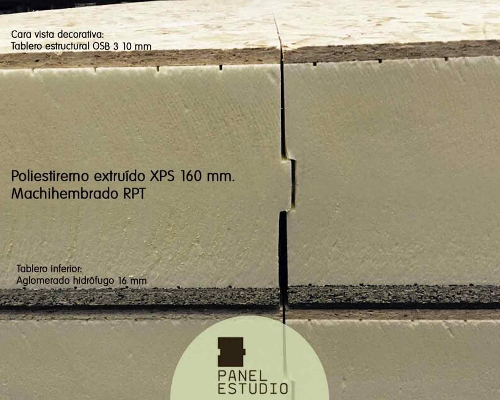 Panel con aislamiento térmico 160 mm XPS.