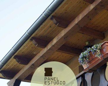Bonita cubierta madera Madrid.