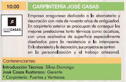 Carpintería José Casas III Jornadas de la madera para construcción.
