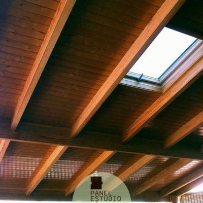 Paneles para tejados. Precio panel de madera para cubiertas en Madrid.