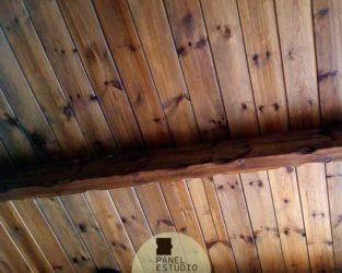 Techos de madera interiores en panel abeto. Precio panel barato Madrid.