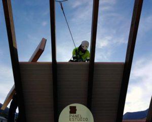 Montaje panel madera.