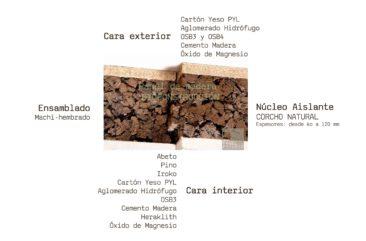 Bioconstrucción corcho machihembrado www.panelestudio.com