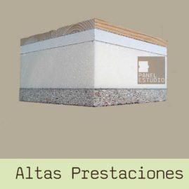 Panel sandwich de Altas Prestaciones Abeto CartónYeso XPS Aglomerado Hidrófugo www.panelestudio.com