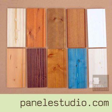 Acabado decorativo frisos de madera. Amplia gama. www.panelestudio.com