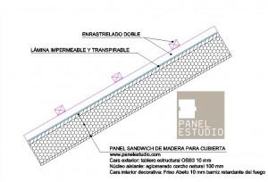 Detalle de enrastrelado doble y lámina impermeable www.panelestudio.com