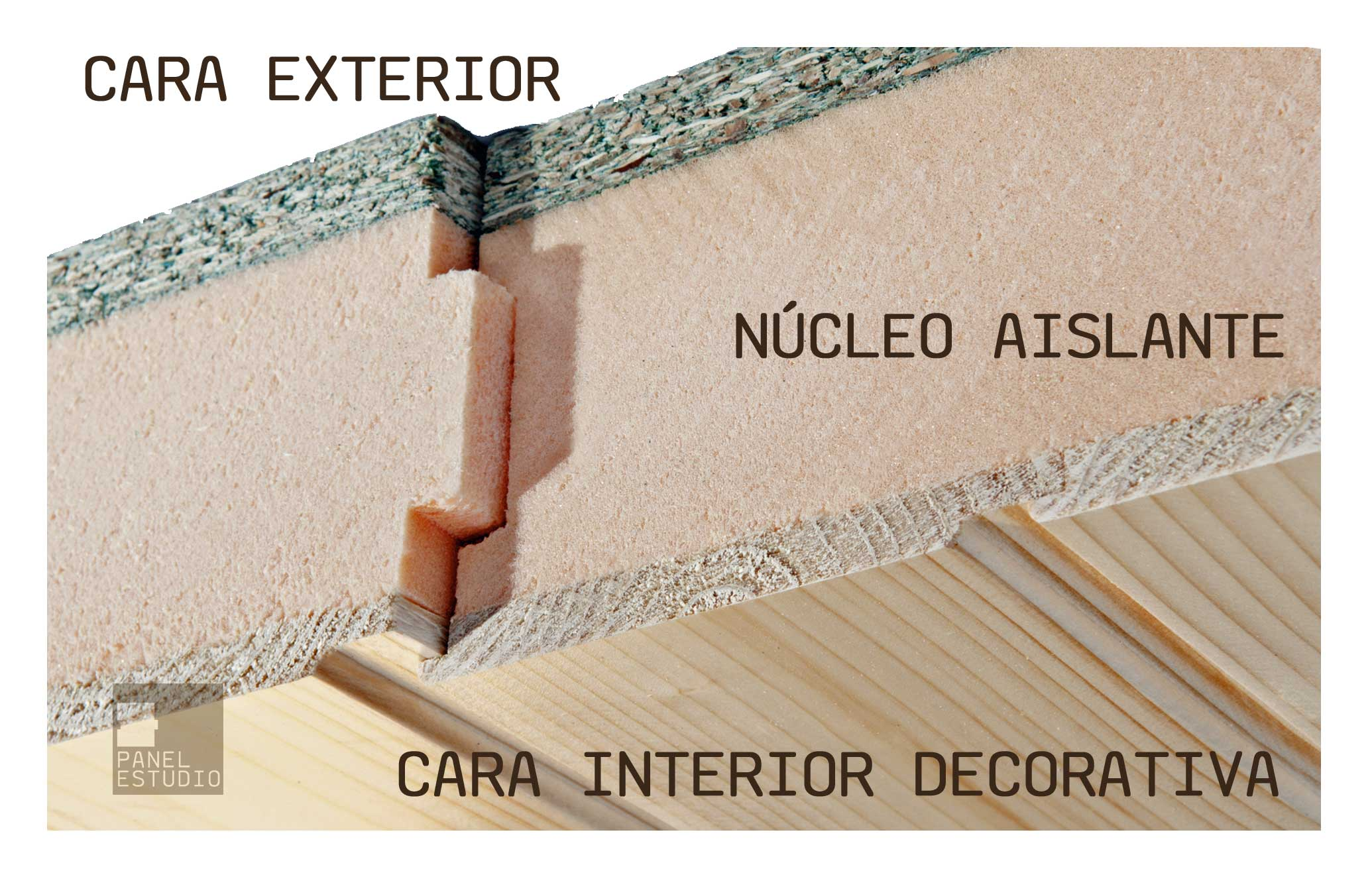 Panelestudio panel de madera aislante para cubiertas for Tejados de madera para exterior