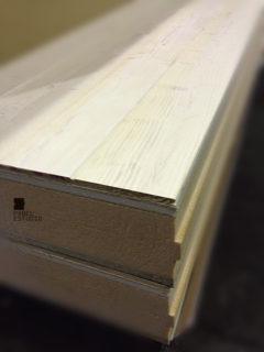 Detalle de panel de Altas Prestaciones. Panel de madera para cubierta.