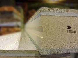 Estructura de panel de Altas Prestaciones. Panel de madera para cubierta.