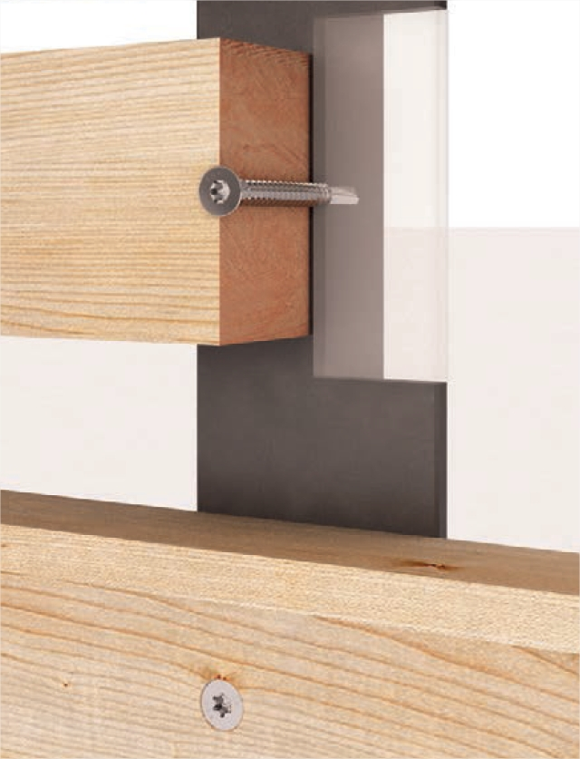 Tornillos l mina y cinta para paneles de cubierta - Laminas de madera para pared ...