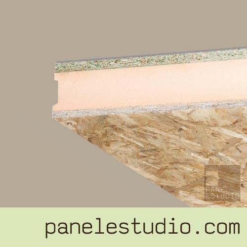 Panel sandwich de madera para tejados con acabado osb3 for Sandwich para tejados de madera