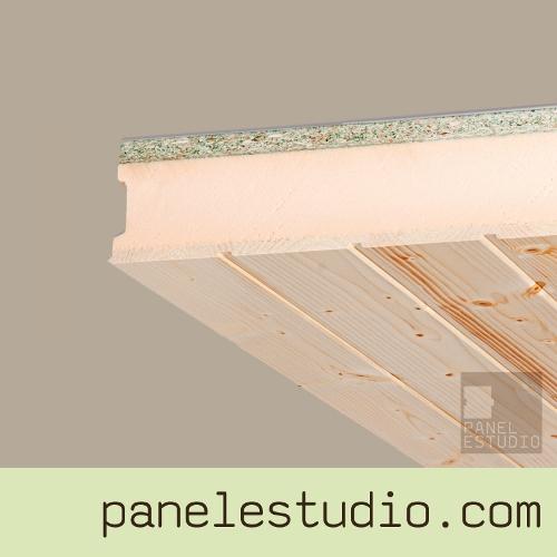 Friso abeto panel de madera para tejados y cubiertas - Panel sandwich aislante ...