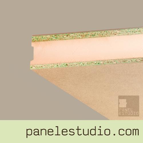 Panel sandwich de cubierta duplo aglomerando hidrofugo XPS. www.panelestudio.com