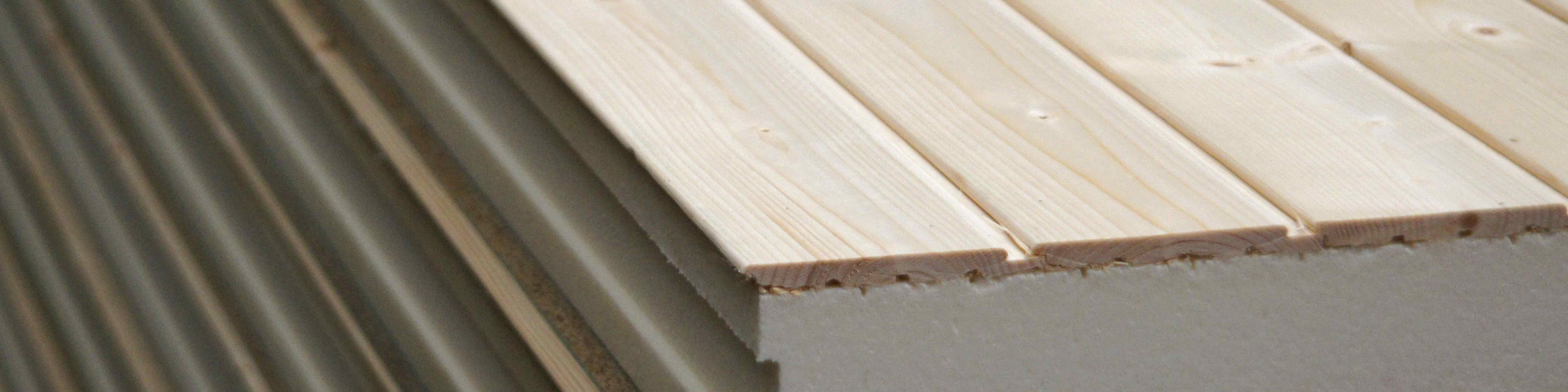Caliber aislamientos comercial y t cnico en madera for Sandwich para tejados de madera