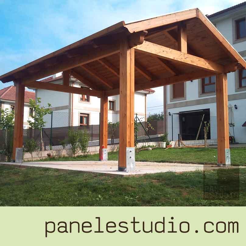 Estructuras de madera vigas montaje de cubiertas - Madera para porches ...