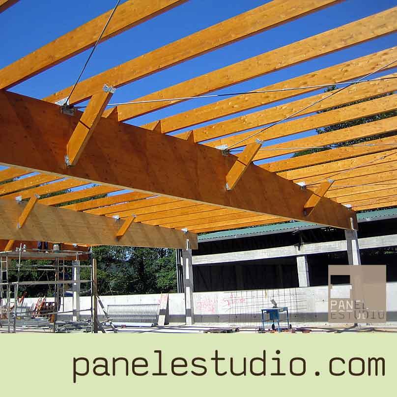 Estructuras de madera vigas montaje de cubiertas - Estructuras de madera para techos ...