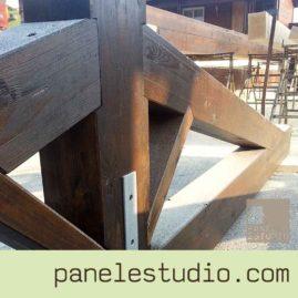 Estructuras de madera. Mecanizado para evitar herrajes. www.paneldecubierta.com
