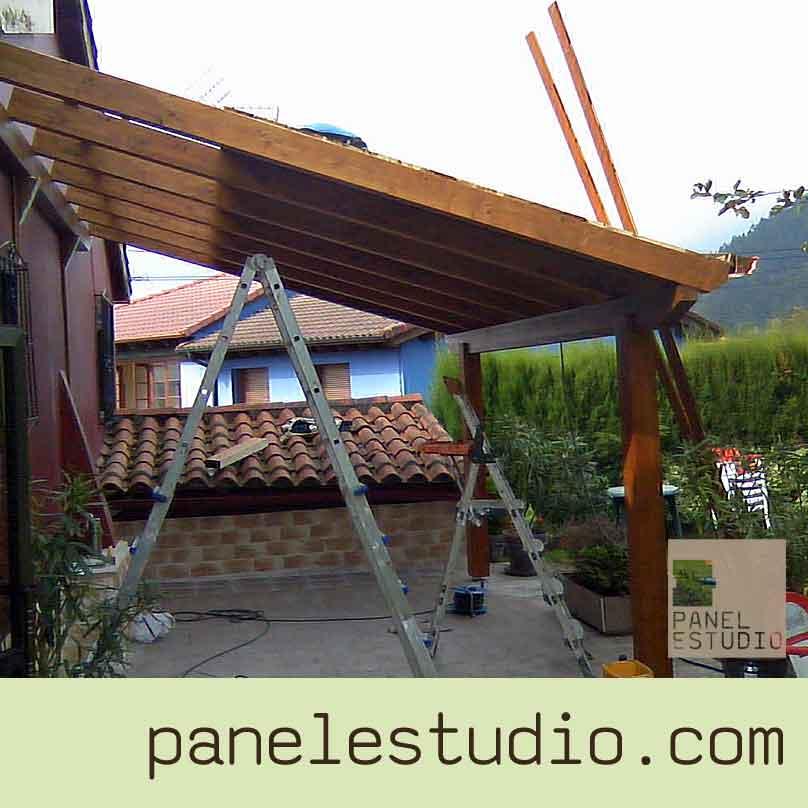 Cubiertas para pergolas de madera estuopenda terraza for Tejados para pergolas