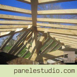Estructuras de madera. Sin antiestéticos herrajes. www.paneldecubierta.com