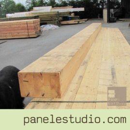 Vigas de madera laminada, bilaminada, trilaminada y contralaminada. www.panelestudio.com