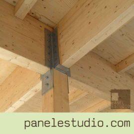 Vigas de madera laminada y estructuras de madera. www.panelestudio.com