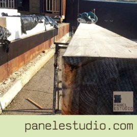 Vigas de madera laminada. www.panelestudio.com