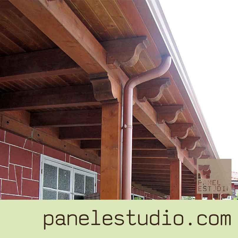 Vigas de madera vigas montaje de cubiertas for Tejados de madera thermochip
