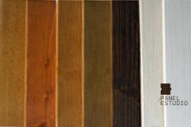 Colores y tonos de frisos de madera de los paneles para cubiertas. Disponibilidad de otros teñidos.