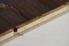 Panel TRICAPA para entreplanta aligerada de madera con acabado decorativo teñido Rústico.