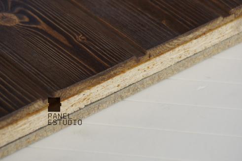 Alero de pane de madera de abeto barniz panel sandwich for Sandwich para tejados de madera