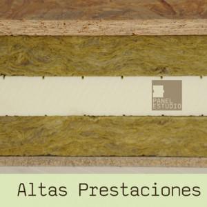 Panel de madera de Altas Prestaciones para cubierta y tejado. Triple Aislamiento Termoacúsico. Lana de Roca, XPS y Lana de Roca.