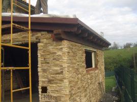 Rehabilitación de cubierta con panel de madera BICAPA para forjado perdido con acabado decorativo. Vivienda.