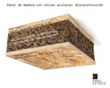 Bioconstrucci n panel de madera de corcho aislante natural - Corcho aislante acustico ...