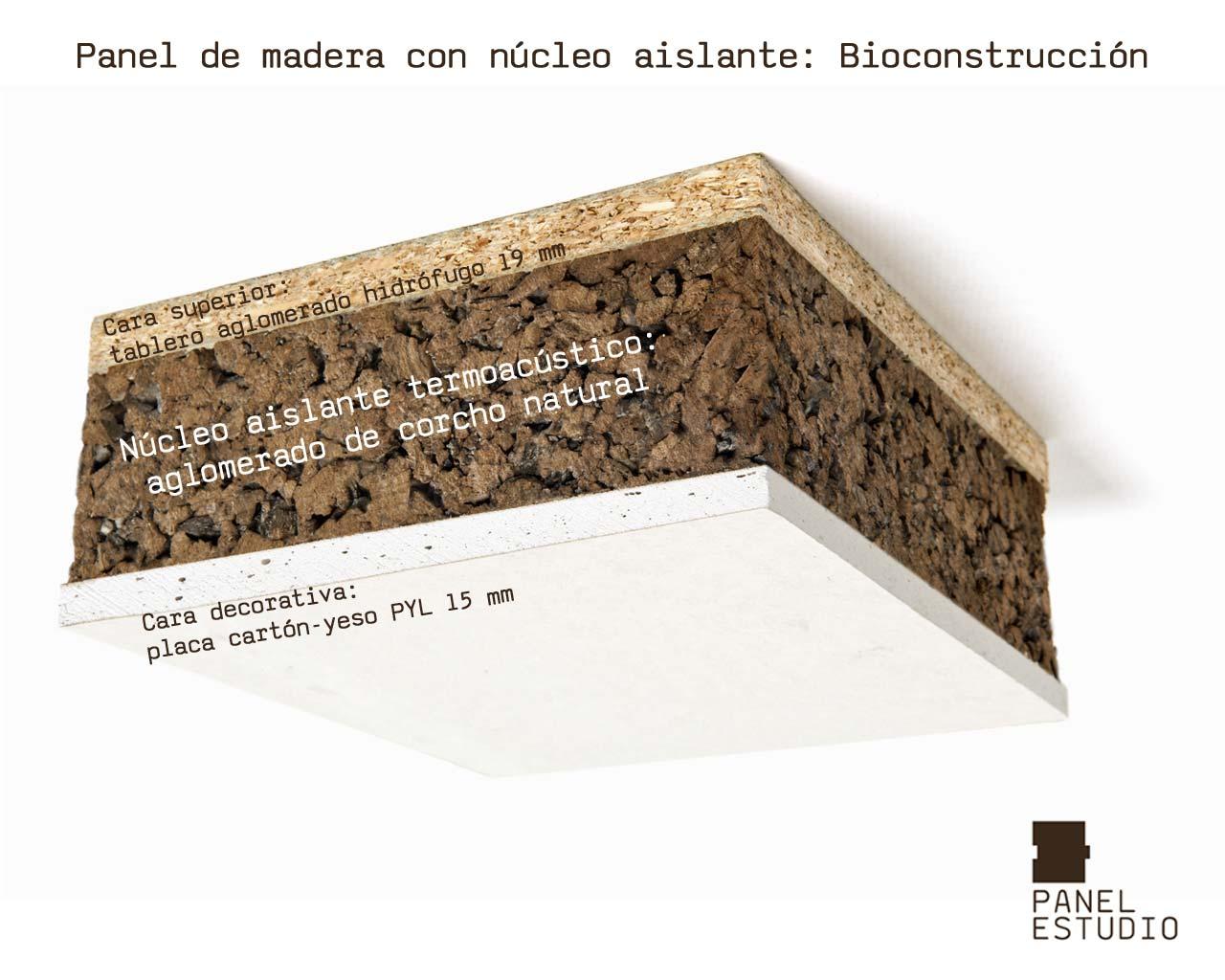 Paneles de madera de corcho negro para bioconstrucci n for Placas de corcho para paredes