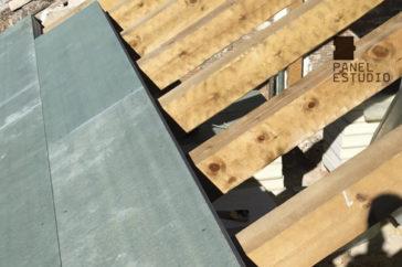 Cubierta de panel de madera ejecutada por Construcciones Gúrpel en Villarejo de Salvanés (Madrid).