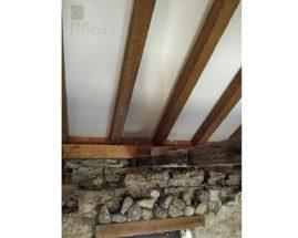 Ejecución de cubierta con panel de madera con núcleo aislante y acabado decorativo cartón yeso PYL knauf para Restaurante La Tercia, Villarejo de Salvanés.