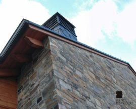 Remate de protección para panel de madera para cubierta. Pared medianera.
