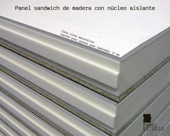 Panel de madera para cubierta acabado decorativo placa de yeso laminado knauf.
