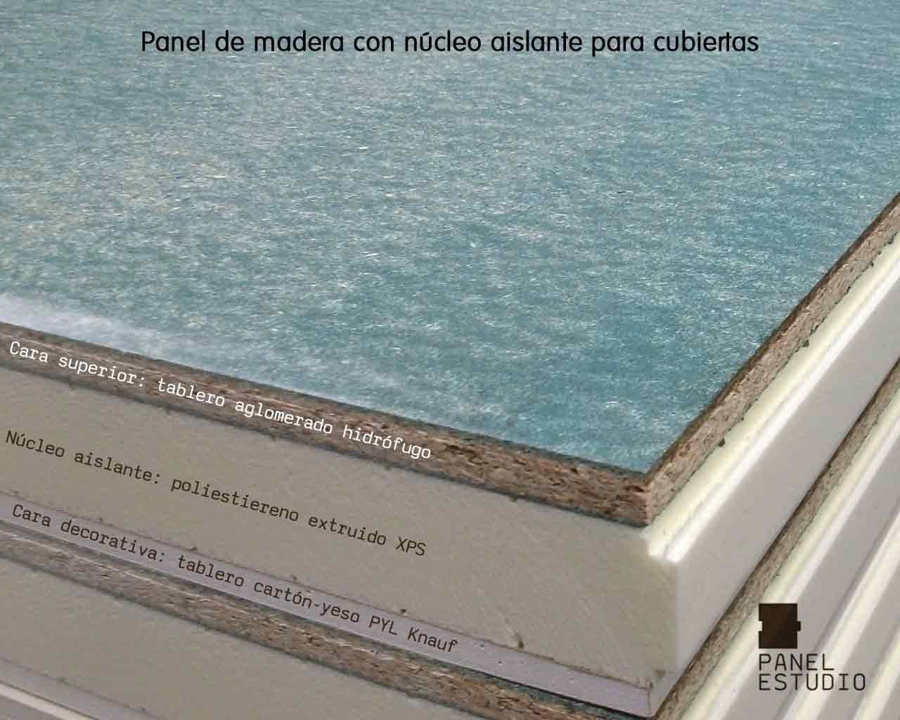 Panel de madera con aglomerado hidr fugo for Tejados y cubiertas de madera