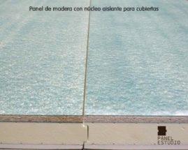 Tablero aglomerado de 19 mm en panel de madera para tejados y cubiertas.