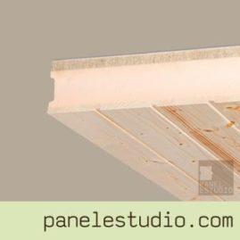 Panel sandwich de cubierta abeto XPS cemento madera.